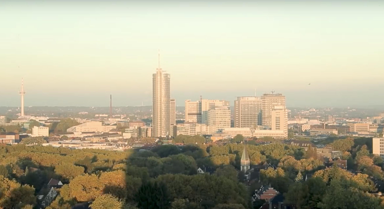 MAGNA erweitert Individualfonds mit City Tower in Essen (Foto: Stadt Essen, Youtube)