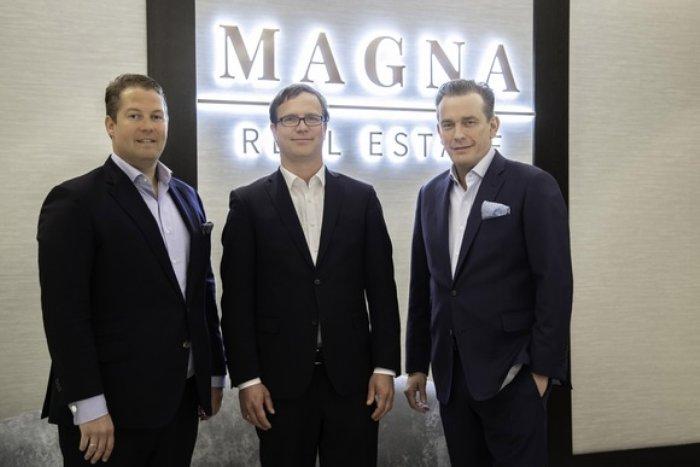 MAGNA Real Estate AG startet in den Wachstumsmarkt Pflege v.l.n.r.: MAGNA Real Estate Vorstand David Liebig, MAGNA Care Geschäftsführer Tim Sauer und MAGNA Real Estate Vorstand Jörn Reinecke