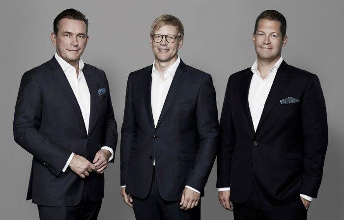 Frank Hermanns - MAGNA Projektentwicklungs GmbH - MAGNA-Vorstand Jörn Reinecke, MAGNA-Geschäftsführer Transactions Frank Hermanns und MAGNA-Vorstand David Liebig (v.l.n.r.)